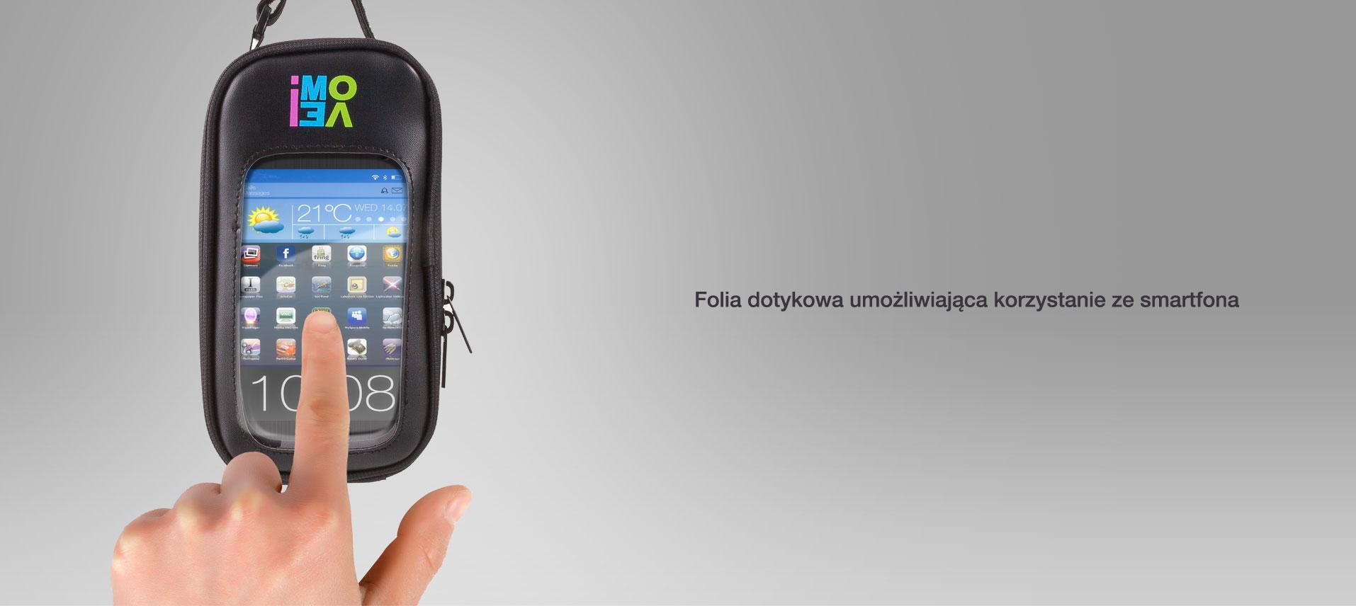 Folia dotykowa umożliwiająca korzystanie ze smartfona.