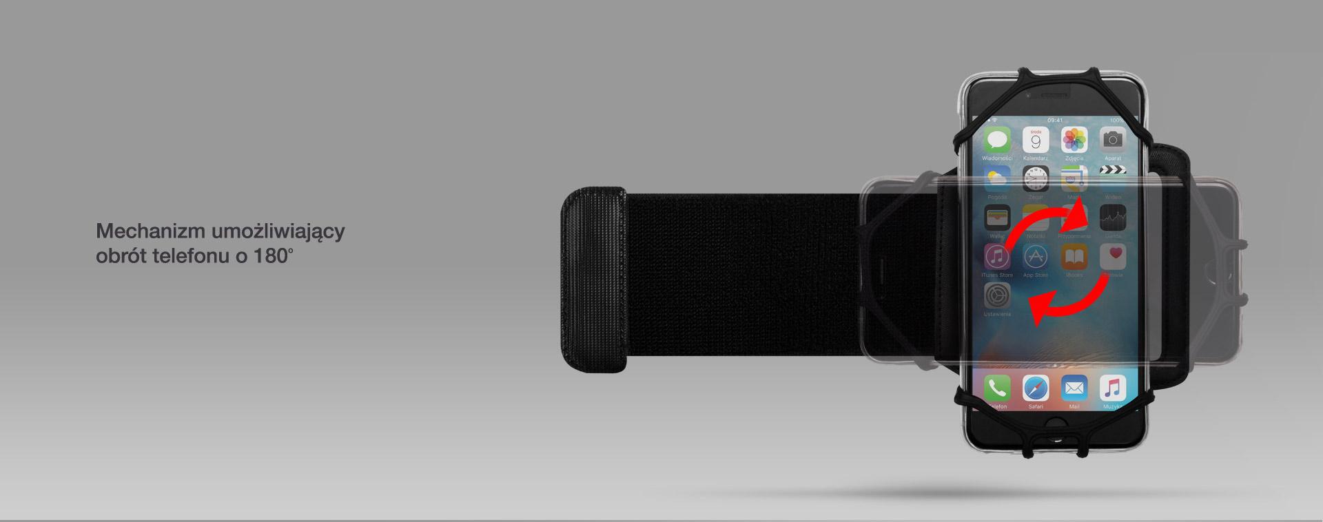 Mechanizm umożliwiający obrót telefonu o 180 stopni.